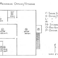 Sanford State Farmers' Market Mezzanine Office/Storage Floorplan