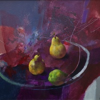 Still Life with Pears by Hal McIntosh