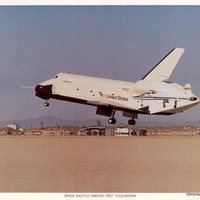Space Shuttle Enterprise Landing at Dryden Flight Research Center