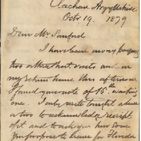 Letter from William MacKinnon to Henry Shelton Sanford (October 19, 1879)