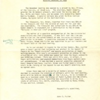 Minutes of Monthly Meeting, December 3, 1959