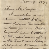 Letter from William MacKinnon to Henry Shelton Sanford (December 19, 1879)