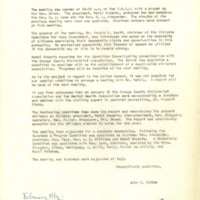 Minutes of Monthly Meeting, January 7, 1960