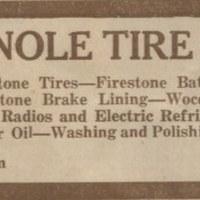 Seminole Tire Shop Advertisement