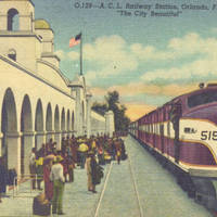 Orlando Atlantic Coast Line Railroad Station Postcard