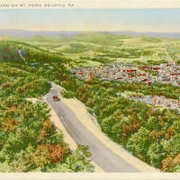 Skyline Boulevard on Mt. Penn Postcard