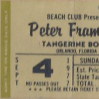 Peter Frampton Ticket Stub