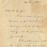 Letter from Edwyn Sandys Dawes to Henry Shelton Sanford (January 24, 1882)