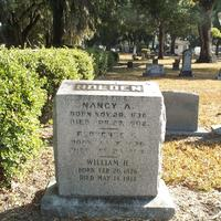 Headstone for William Harrison Holden, Nancy A. Mizell Holden, and Florence C. Holden at Conway United Methodist Church Cemetery