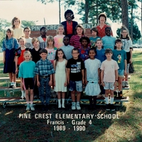 Pine Crest Elementary Fourth Grade Class 1989-1990
