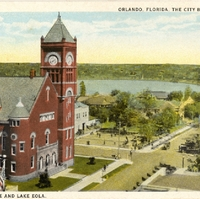 Court House and Lake Eola Postcard
