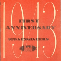 913th Engineers First Anniversary Booklet