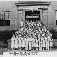 Sanford Junior High School Graduating Class, 1936-1937