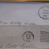 Envelopes to Betty Riddle
