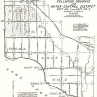 Map of Zellwood Drainage and Water Control District Unit No. 1 and Unit No. 2