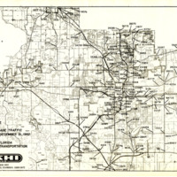 24 Hour Average Annual Traffic Map for Orange County, 1982