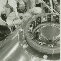 Astronaut Frank Borman During a Simulated Altitude Chamber Test