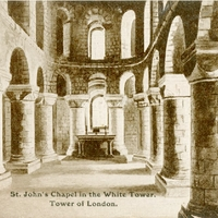 St. John's Chapel in the White Tower, Tower of London Postcard