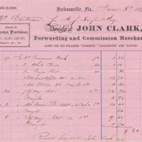 John Clark Receipt of Payment for Edwin G. Eastman (June 8, 1871)