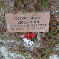 Headstone of Lorraine Friland Goodermuth at Viking Cemetery