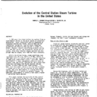 Evolution of the Central Station Steam Turbine in the United States
