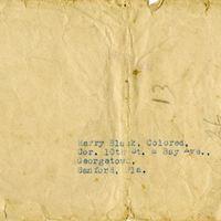 Envelope Addressed to Harry Black