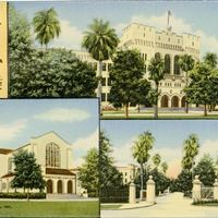 Views of the Citadel, The Military College of South Carolina Postcard