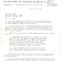Letter from John R. Squire to Mrs. Jerry Boyd (October 12, 1976)