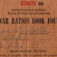 War Ration Book Four: Prince Butler Boston