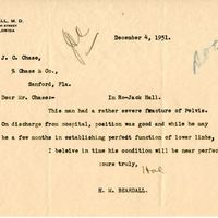 Letter from Hal M. Beardall to Joshua Coffin Chase (December 4, 1931)