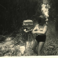 "Newton ""Newt"" Perry Filming Underwater"