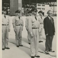 Colonel Michael Norman Wright McCoy and Mayor J. Rolfe Davis at Pinecastle Air Force Base