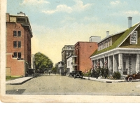 Central Ave., Looking West from Court House Postcard