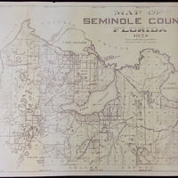 Map of Seminole County, Florida, 1954