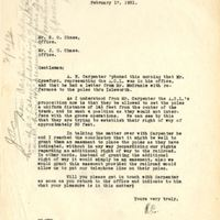 Letter from Randall Chase to Sydney Octavius Chase and Joshua Coffin Chase (February 17, 1931)