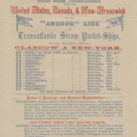 Handyside and Henderson Anchor Steamship Line Schedule