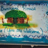 Cake for the Grand Opening of Bwernai House