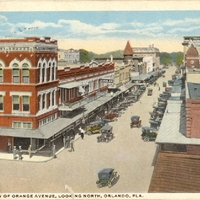 Bird's Eye View of Orange Avenue Postcard