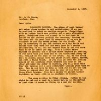 Letter from Joshua Coffin Chase to Sydney Octavius Chase (December 1, 1927)