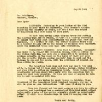 Letter from Joshua Coffin Chase to Sydney Octavius Chase (May 23, 1924)