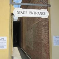 Stage Entrance at the Wayne Densch Performing Arts Center