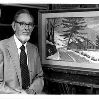 Ralph L. Bagley Next to Painting