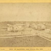 Palmetto Avenue and First Street in Sanford, 1882