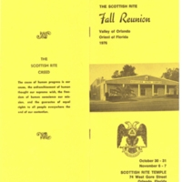 The Scottish Rite Fall Reunion Pamphlet
