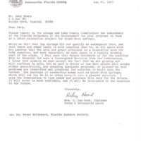 Letter from Helen M. Hood to Gary I. Sharp (May 21, 1975)