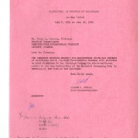 Memorandum of Understanding of Supervisors of the Seminole Soil and Water Conservation District, 1962