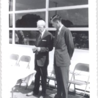 J. Powell Tucker and Waldron Sanderlin at the Dixie Village Post Office Dedication Ceremony