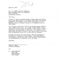 Letter from Edward A. Zagar to J. W. Woods (April 15, 1968)