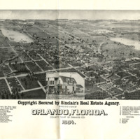 Bird's Eye View of Orlando, 1884