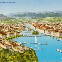 General View of the Harbor Postcard